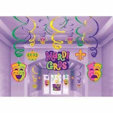 Mardi Gras Hanging Decorations Swirls Mega 30 Pc Value Party Pack