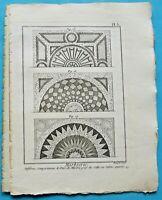 1784 Estampe Eau Forte Architecture gravure Marbrerie les Salles ou salons Carré