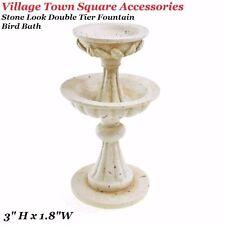 """3"""" Miniature Dollhouse xmas village Town Square fax Stone Double Teir Fountain"""