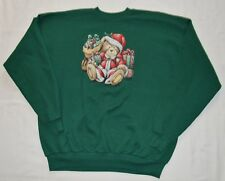 Men's VTG Hanes   Christmas Ugly Pull Over Sweat Shirt Sz XL (46-48), (31,2)