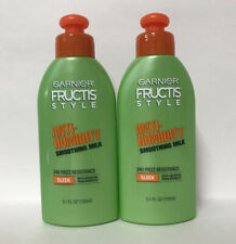 (2) Garnier Fructis Sleek & Shine Anti-Humidity Smoothing Milk-5.1 oz. Each