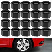 20Pcs Car Tire Wheel Lug Nut Bolt Center Cover Black Caps Tool Tesla Model 3 X S