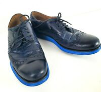 Cole Haan Lunergrand Lunarlon Blue Leather Wingtip Mens Shoes Size 9.5 W