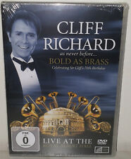 DVD CLIFF RICHARD - BOLD AS BRASS - NUOVO NEW