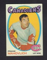Frank Mahovlich 1971-72 Topps #105 Canadiens jh55