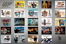 """James Bond movie poster 24x36"""" 23 Movies in one collage"""