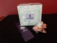 Lladro Santa's Workshop Little Aviator Ornament #06343 Euc Box 1996