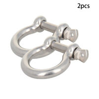 M16 D-Ring Bow Shackles Anchor Screw Recovery Tow Jeep Off Road Stainless Steel
