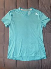 Womens Size M Adidas Teal Athletic Shirt Top Clothes