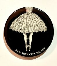 RARE Vintage 1975 NEW YORK CITY BALLET Pin Button Badge Edward Gorey Art!