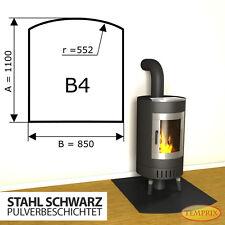 Kaminbodenplatte » Funkenschutz Ofenplatte « Kaminofenplatte Stahl schwarz B4