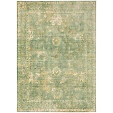 The Rug House Verve Modern Distressed Easy living Soft Trendy Green...