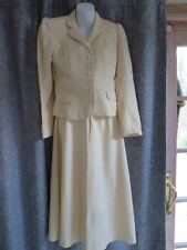 Vintage 1980s Hunters Run Women's Size 10 Ivory Jacket Skirt Suit Wedding