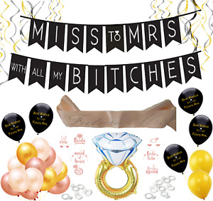 Miss to Mrs Bachelorette Party Bridal Shower Supplies Decorations Rose Gold Kit