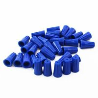 100Pcs Blue P2  Wire Connector Twist-On Terminals Cap Spring 22-14 AWG