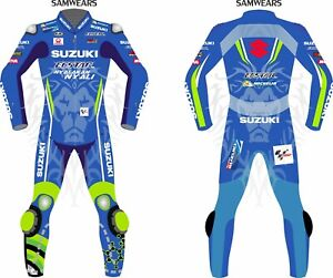 SUZUKI ECSTAR MOTORBIKE/MOTORCYCLE COWHIDE RACING LEATHER SUIT CE APPROVED