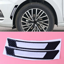 2PCS Reflective Carbon Fiber Wheel Eyebrow Arch Trim Lips Side Marker Sticker FR