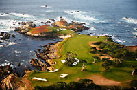 Impression Encadrée - Cypress Point Club de Golf Galet Plage California (aux