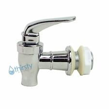"Replacement Water Faucet Spigot Dispenser 3/4"" Valve Bottle Crock SILVER CHROME"