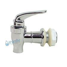 "Replacement Water Faucet Spigot Dispenser 3/4"" Valve Bottle Crock SILVER CHROME"