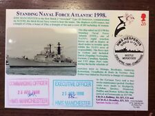 4RNCHSP100 FDC HMS MANCHESTER Standing Naval Force Atlantic 1998 Signed