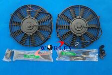 2X 14''inch Electric Radiator Cooling Slim Fan Push Pull Mounting Kit Universal