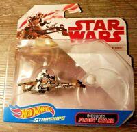 NEW ~ Hot Wheels Star Wars Starships Speeder Bike Guy & Flight Stand ~ Diecast