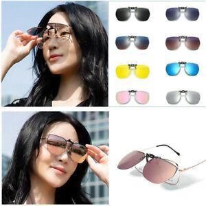 Polarisiert UV 400 Hochklappbar Überbrillen Aufsatz Clip On Sonnenbrillenaufsatz