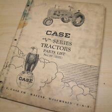 Case V Series Tractor Parts Manual Book Catalog List Spare Farm No 89 Vintage