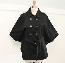 NWT Tulle Cape Belted Jacket Sz L in Black