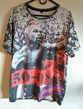 Floyd Mayweather All Over Print T-Shirt Size XL Undefeated Boxing Champion