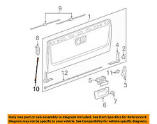 GM OEM Tail Gate Tailgate Hatch-Check Cable Strap Right 25838261