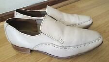 LOAKE OTLEY SHOE MAKERS MENS WHITE SHOES SIZE UK 10EE / EU 44 MADE IN ENGLAND