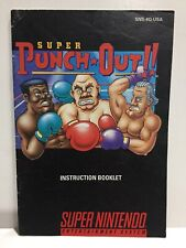 Super Punch Out Instruction Booklet Manual Only for Super Nintendo SNES NTSC