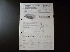 ORIGINALI service manual BLAUPUNKT AUTORADIO Francoforte US 7636624 Lille 7636626
