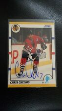 Chris Chelios 2012-13 Score Recollection Collection 1990 Traded Buy Back Auto SP