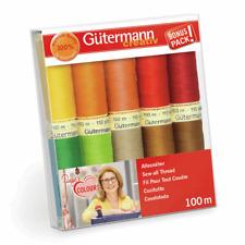 Gutermann Thread Set: Sew-All: 10 x 100m: Assorted