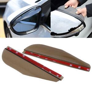 2PCS Smoke Car Rearview Mirror Rain Water Rainproof Eyebrow Cover Side Shield