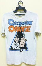 Vintage 80s A Clockwork Orange Movie T-Shirt Punk Stanley Kubrick Rare!