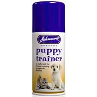 Johnsons Puppy Trainer 150ml - Kitten House Training Spray Poo And Wee