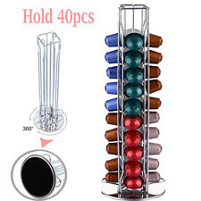 40 Rotating Capsule Coffee Pod Holder Stand Rack Tower for Nespresso Revolving