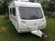 Sterling europa 520 4 berth caravan with full awning 2008 end washroom