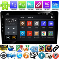 10.1zoll 2Din Quad Core Android 8.1 GPS Navi WiFi Car Stereo MP5 Player FM Radio