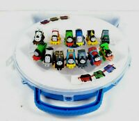 13 Piece Thomas the Train and Friends Minis - Train Lot with Carrying Case