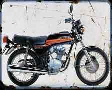 Honda Cb125Jx 80 A4 métal signe Moto Vintage Aged