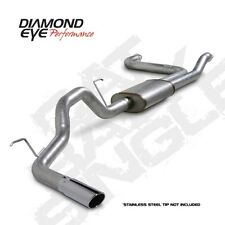 "Diamond Eye K3520A 3.5"" Cat-Back Exhaust, Single, Alum, For 04-14 Titan"