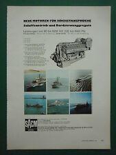6/1978 PUB SACM ALSACE MOTEUR DIESEL MARINE MOTOREN DTCN NAVIES GERMAN AD