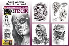 DAY OF THE DEAD SKULL WOMEN Tattoo Flash Design Book 66-Pages Sketch Art Supply