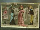 cpa fantaisie annee 1907 enfants peintres