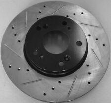 06-09 VW Jetta 2.5 TDI Drilled Slotted Brake Rotors Rr